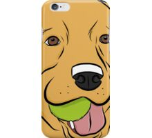 Yellow Lab with Ball iPhone Case/Skin