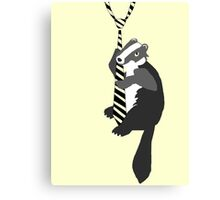 hufflepuff mascot tie Canvas Print