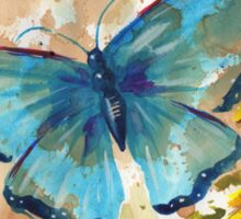 Watercolor Butterfly with BlackEyedSusan Sticker