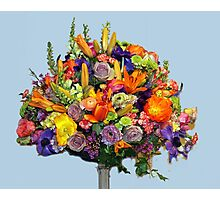 Orange Floral Arrangement Photographic Print