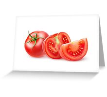 Cut tomatoes Greeting Card