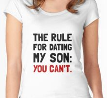 Dating Son Rule Women's Fitted Scoop T-Shirt