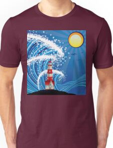 Lighthouse in the Sea 3 Unisex T-Shirt