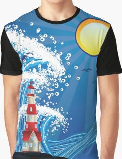 Lighthouse in the Sea 3 Graphic T-Shirt