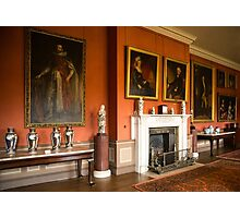 Dunham Massey -room with the fireplace and pictures Photographic Print