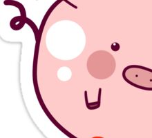 Pig Balloon Sticker