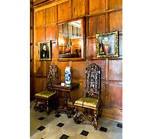 Dunham Massey-wood panel wall and pictures Photographic Print
