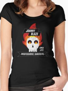 Johnny Blaze Professional Daredevil Women's Fitted Scoop T-Shirt