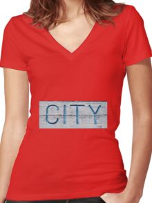 City Girl Women's Fitted V-Neck T-Shirt