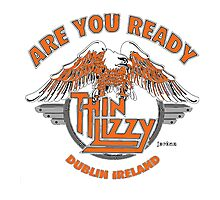 THIN LIZZY ARE YOU READY Photographic Print