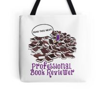Professional Book Reviewer - Purple Tote Bag