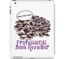 Professional Book Reviewer - Purple iPad Case/Skin