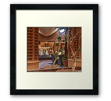 The Reflective Lobby Framed Print