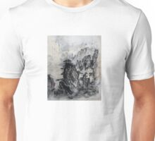 Deep in the Mountains - Famous Japanese Tanka Poetry and Painting Unisex T-Shirt