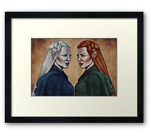 The Hobbit- Silver & Silvan Tauriel Framed Print