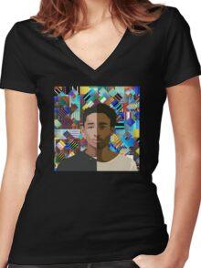 Childish Gambino X Jaden Smith Women's Fitted V-Neck T-Shirt