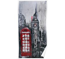 London Red Phone Box Poster