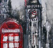 London Red Phone Box Sticker