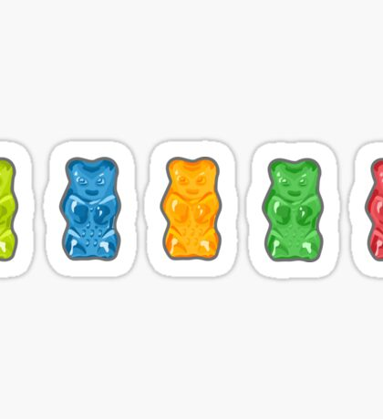 Rainbow Gummy Bears Sticker