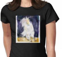 White Horse Conqueror Womens Fitted T-Shirt