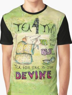 Stu the Sewer Rat and Tea for One  Graphic T-Shirt