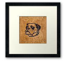 Tough Dog Framed Print
