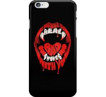 I wanna do real bad things with you iPhone Case/Skin