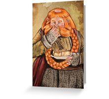 The Hobbit- Bombur Dwarf Greeting Card