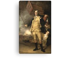 General Washington at the Battle of Princeton  Canvas Print