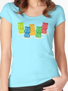Gummy Bears Gang Women's Fitted Scoop T-Shirt