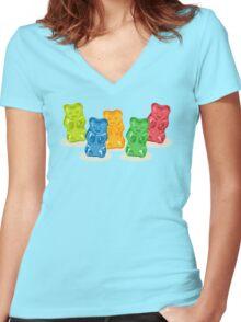 Gummy Bears Gang Women's Fitted V-Neck T-Shirt