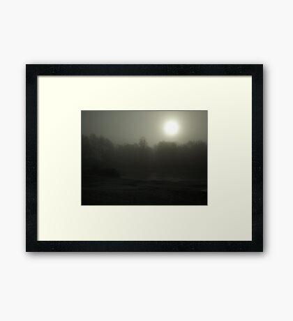 Frozen Light Framed Print