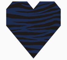 0594 Royal Blue Tiger Baby Tee