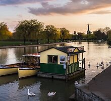 RIVER AVON AT DUSK by Michael Carter