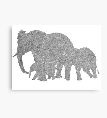 OneLine art by Erik Juel Jensen ( elefant ) Canvas Print