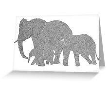 OneLine art by Erik Juel Jensen ( elefant ) Greeting Card