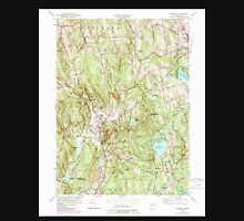 USGS TOPO Map Connecticut CT Woodbury 331234 1955 24000 Unisex T-Shirt