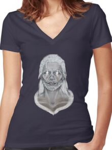 The Elder Scrolls- Skyrim- Man of the North Women's Fitted V-Neck T-Shirt