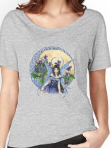 Celtic Violet Fairy t shirt Women's Relaxed Fit T-Shirt