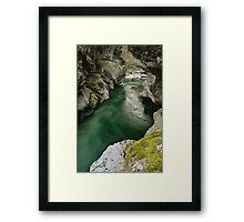 Green water under the bridge Framed Print