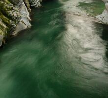 Green water under the bridge Sticker