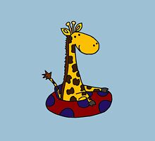 Cool Funny Giraffe in Inner Tube Unisex T-Shirt