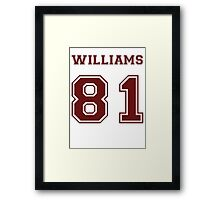 Jesse Williams '81 Framed Print