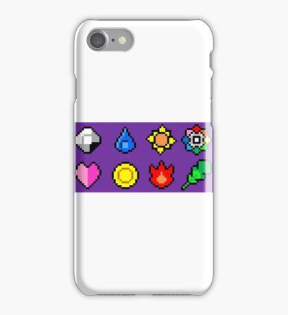 Kanto League Pokemon Master Badges  iPhone Case/Skin