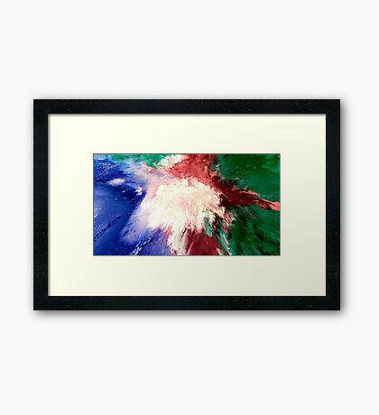 Abstract Acrylic Painting Impacto  Framed Print