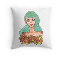 Snake Bust Throw Pillow
