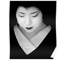 Geisha - grey scale Poster