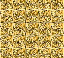 Spiral pattern (yellow) by JessicaMariana