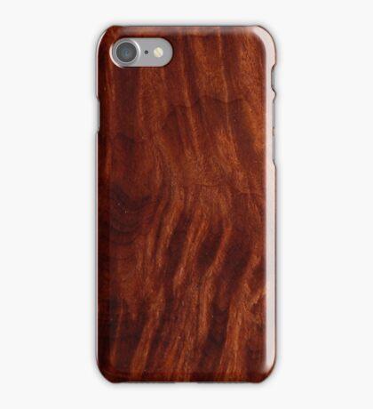 Beautiful Unique mahogany red wood veneer design iPhone Case/Skin