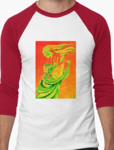 Mucha style drawing in colours Men's Baseball ¾ T-Shirt